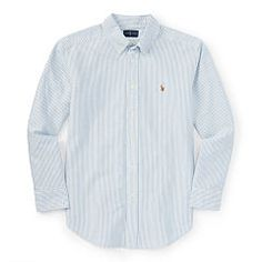 Striped Cotton Oxford Shirt - Boys 8-20 Sport Shirts - RalphLauren.com