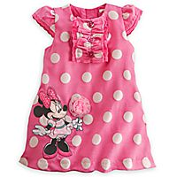 Minnie Mouse Woven Polka Dot Dress for Baby