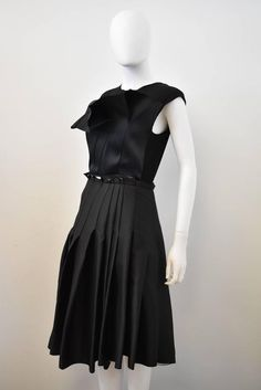 Lanvin Black Pleated Cocktail Dress A/W 2013 2