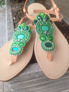 Sandals handmade soutache Di Roberta Morettini