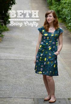 Beth Being Crafty: Nani Iro Bess Alder Mash-Up Dress