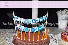 Kids&Babies: Bunting Cake Toppers (Cake bunting para bolo de aniversário)