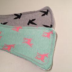 Contoured Burp Cloths- Soft Jersey Knit- Set of 3