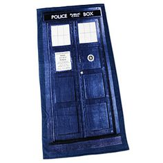 Doctor Who TARDIS Bath/Beach Towel: because you can't travel the universe without a good towel!