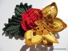 PDF Beautiful CROCHET BUTTERFLY 3d Butterfly by LoveCyprusCrochet, $3.99