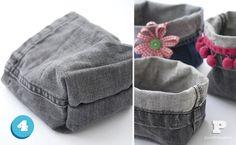 Crea cestas hechas con tejanos   el diario de una directora creativa