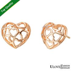 Find More Stud Earrings Information about Rose And White Gold Plated Heart Sterling Silver Fashion Heart  Shape Earrings 2014 Fashion Brincos 2014 Ulove R557,High Quality earings,China earring vintage Suppliers, Cheap earrings personalized from Ulovestore Jewelry on Aliexpress.com