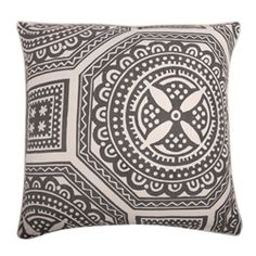 Thomas Paul pillow Lisbon  $105  Large prints - this collection of pillows (Fragments collection) uses large-scale versions of classic patterns like Toile, Batik, and Wax Print