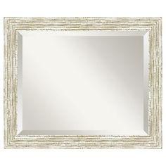 "Amanti Art Cape Cod 23 1/2"" x 19 1/2"" Wall Mirror"