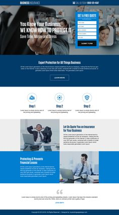responsive small business insurance quality lead gen landing page #business #BusinessOwner #BusinessMan #businessinsurance #insurance #Insurancequotes #insurancepolicy