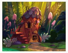 56 Ideas house cartoon animation for 2019 Cartoon Background, Animation Background, Storyboard, Cartoon House, House Illustration, Fantasy Illustration, Cartoon Design, Visual Development, Environmental Art