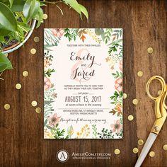 Rustic Fall Wedding Invitation Printable Autumn by AmeliyCom https://www.etsy.com/listing/476313547/rustic-fall-wedding-invitation-printable