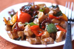 Barefeet In The Kitchen: Spicy Chicken and Bacon Stir Fry - Made by My Man Meat Recipes, Asian Recipes, Chicken Recipes, Dinner Recipes, Cooking Recipes, Ethnic Recipes, Shrimp Recipes, Yummy Recipes, Dinner Ideas