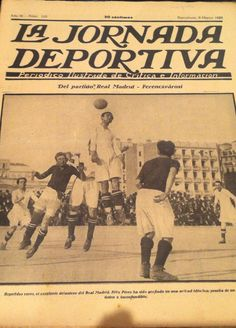 Real Madrid vs Ferencvaros 1923 Real Madrid, Football Memorabilia, Movie Posters, Film Poster, Popcorn Posters, Film Posters, Poster