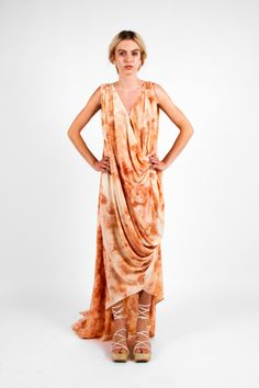 Nicole Wesseling; Zen 2013. Naturally printed Onion Gown. Shoes: Steven Park of 6x4.   Photographer: James Black of Black Photographic.   Model: Kelly Pochyba.