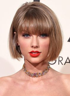 Learn Taylor Swift's bob hairstyle.