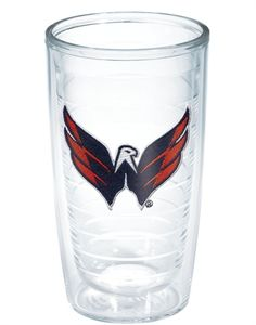 The NHL's Washington Capitals are awesome on the ice, just like hockey fans' favorite beverages in this collection of double-insulated Tervis tumblers. Hockey Teams, Ice Hockey, Nhl Washington Capitals, Bumper Stickers, Badass, Fan, Heart, Awesome, Sports
