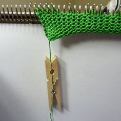 machine knitting cast on