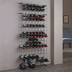 Features:  -Comes with 3 magnum rows.  -Tie grid system uses interlocked wires to create pockets.  Product Type: -Wine Bottle Rack.  Finish: -Black.  Material: -Metal.  Wine Bottle Capacity: -138.  -O