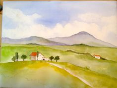 This is the Italian Countryside painting you can learn to do on our website.