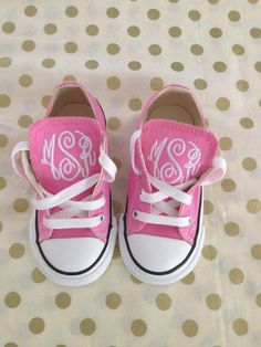Baby/Toddler Monogram Converse on Etsy, $45.00