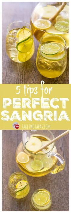 5 Tips for Perfect Sangria and a Summer Apple Sangria | Take Two Tapas