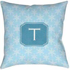 Thumbprintz Snowflake Monogram Decorative Pillows