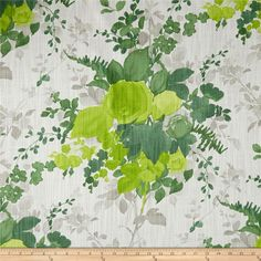 Online Shopping for Home Decor, Apparel, Quilting & Designer Fabric Green Fabric, Floral Fabric, Fabric Decor, Fabric Design, Shades Of Green, Green And Grey, Green Pillows, Throw Pillows, Grey Green Bedrooms