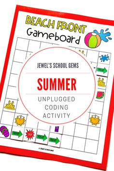 SEASONAL Unplugged Coding Activities (Summer Coding Unplugged Activities) by Jewel's School Gems | Looking for seasonal unplugged coding activities for kids from kindergarten to 2nd grade? This product contains summer-themed unplugged coding printables that will make learning programming fun and develop students' skills in coding, such as problem solving and critical thinking, as well as collaboration and communication skills. Click to see it on TpT.