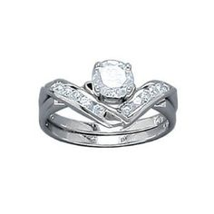 Ladies Sterling Silver Solitaire Clear Cubic Zirconia Bridal Ring Set (Jewelry) http://www.amazon.com/dp/B0046ZJT1G/?tag=repined-20 B0046ZJT1G