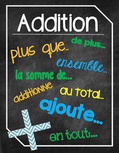 Vocabulaire mathématique http://laclassedekarine.blogspot.ca/
