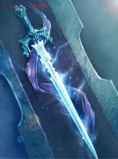Find images and videos about sword on We Heart It - the app to get lost in what you love. Fantasy Blade, Fantasy Sword, Fantasy Weapons, Dark Fantasy, Fantasy Art, Ice Sword, Vorpal Swords, Sword Drawing, Cool Swords