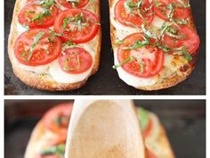 Caprese Garlic Flat Bread Pizza