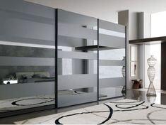 glass wardrobe door designs for bedroom indian Bedroom Cupboard Designs, Wardrobe Design Bedroom, Bedroom Closet Design, Modern Bedroom Design, Glass Wardrobe Doors, Wooden Wardrobe, Ideas Armario, Sliding Door Wardrobe Designs, Dressing Design