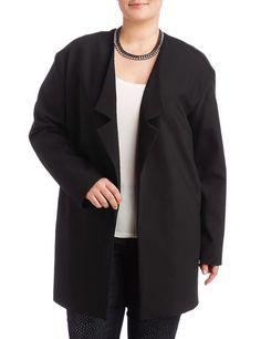 Blazer Langarm gefüttert Angesagter Oversized-Blazer    Angesagter Oversized-Blazer für neue Trend-Outfits! Die neue, extra legere Longform mit überschnittener Schulter, seitlichen Nahttaschen und streckendem Revers wird zum trendigen Begleiter. Gefüttert. Länge ca. 86 cm    Material: Schwarz: Oberstoff: 51% Baumwolle, 40% Polyester, 9% Elastan; Futter: 100% Acetat...