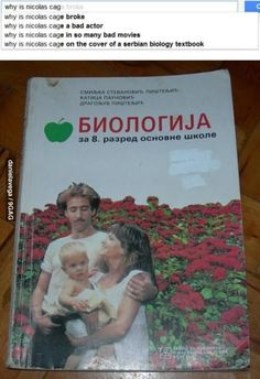 Why is Nicolas Cage... on Serbian biology textbook??