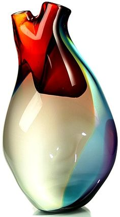 ventricle vessel:  the ventricle is a hand blown sculptural vase designed by eva milinkovic referencing the organic beauty of the human heart. http://www.tsunamiglassworks.com/products.php?pfid=33