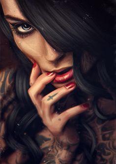 Design Story – Religion (by Max Twain) Arte Dope, Dope Art, Katarina League Of Legends, Tattoos 3d, Tatoos, 3d Art, Arte Obscura, Chicano Art, Digital Art Girl