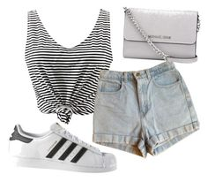 """Untitled #51"" by kristyna-r on Polyvore featuring American Apparel, adidas and MICHAEL Michael Kors"