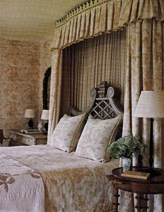 Barry Dixon's Virginia Farmhouse Master Bedroom, Southern Accents March April 2009