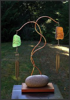 A unique windchime. It's simplicity is it's strength and the colours are…
