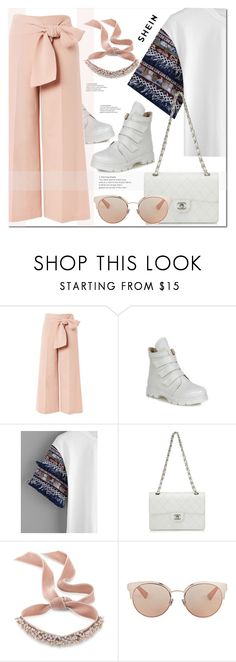 """""""shein"""" by ilona-828 ❤ liked on Polyvore featuring Topshop, Chanel, Fallon, Christian Dior, StreetStyle, Summer, polyvoreeditorial and shein"""