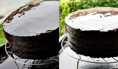 Glazura oglinda de cacao este una dintre cele pe care le prefer pentru acoperit torturi.Este usor de facut si ,din cateva ingrediente simple obtinem o glazura cu un aspect frumos,de oglinda.… Sweets Recipes, Cake Decorating, Coconut, Fondant, Fruit, Cooking, Food, Desert Recipes, Sweet Treats
