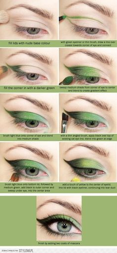green eye look - for poison ivy costume