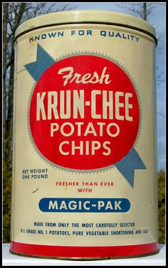 Krun-Chee Potato Chips, from the '60s | Flickr - Photo Sharing!