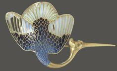 R. Lalique Brooch Stork