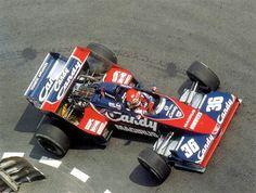 Bruno Giacomelli in a Toleman-Hart at the 1983 Monaco Grand Prix. F1 Racing, Racing Team, Benetton, Abu Dhabi, Motor Ford, Ferrari, Gilles Villeneuve, Monaco Grand Prix, Formula 1 Car