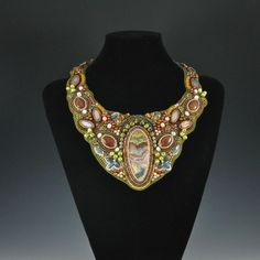 Rock My World Collar by Kate Tracton Designs - 50 hours of work went in this bead embroidery.