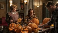"'Supernatural' 15x14 Review: ""Last Holiday"" Supernatural Episodes, Supernatural Jensen, Supernatural Seasons, Sam And Dean Winchester, Winchester Brothers, Sam Dean, Pumpkin Carving, Pumpkin Spice, Carving Pumpkins"