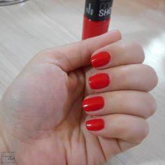 Esmalte da Semana | Power Red (Color Show, Maybeline) | Nail Polish | Perspectiva Laranja